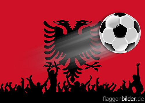 albanien_fussball-fans.jpg von 123gif.de Download & Grußkartenversand