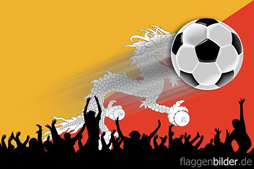 bhutan_fussball-fans.jpg von 123gif.de Download & Grußkartenversand