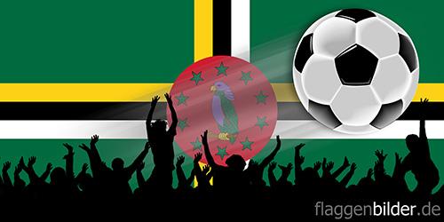 dominica_fussball-fans.jpg von 123gif.de Download & Grußkartenversand