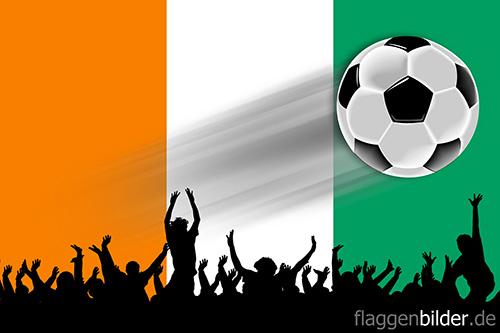 elfenbeinkueste_fussball-fans.jpg von 123gif.de Download & Grußkartenversand