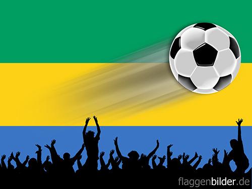 gabun_fussball-fans.jpg von 123gif.de Download & Grußkartenversand