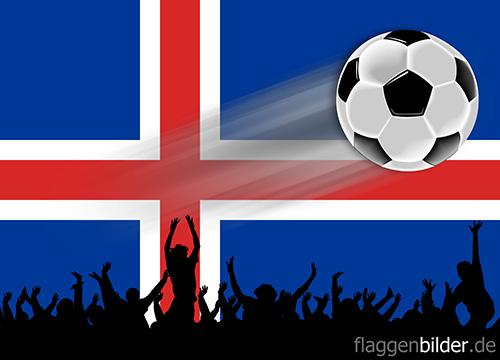 island_fussball-fans.jpg von 123gif.de Download & Grußkartenversand