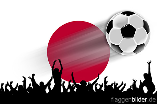 japan_fussball-fans.jpg von 123gif.de Download & Grußkartenversand