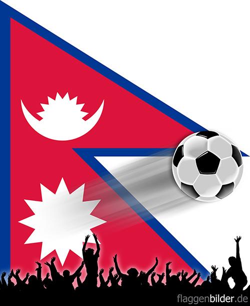 nepal_fussball-fans.jpg von 123gif.de Download & Grußkartenversand