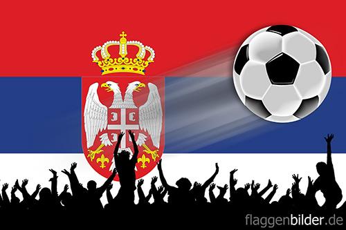 serbien_fussball-fans.jpg von 123gif.de Download & Grußkartenversand