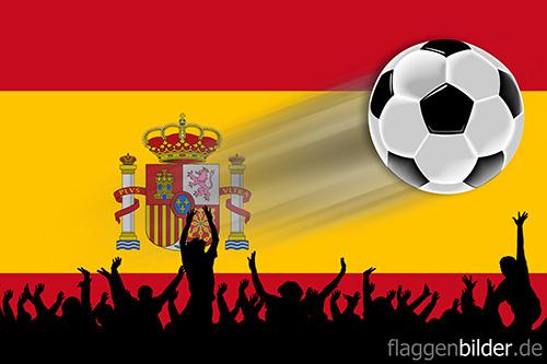 spanien_fussball-fans.jpg von 123gif.de Download & Grußkartenversand