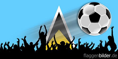 st_lucia_fussball-fans.jpg von 123gif.de Download & Grußkartenversand