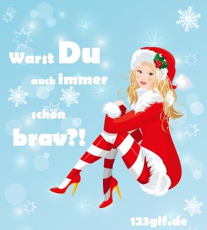 Weihnachtsfrau 0002 von 123 de download grußkartenversand