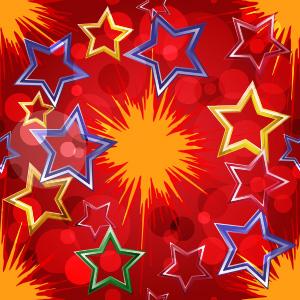 Sterne bunt