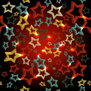 Sterne bunt 3D